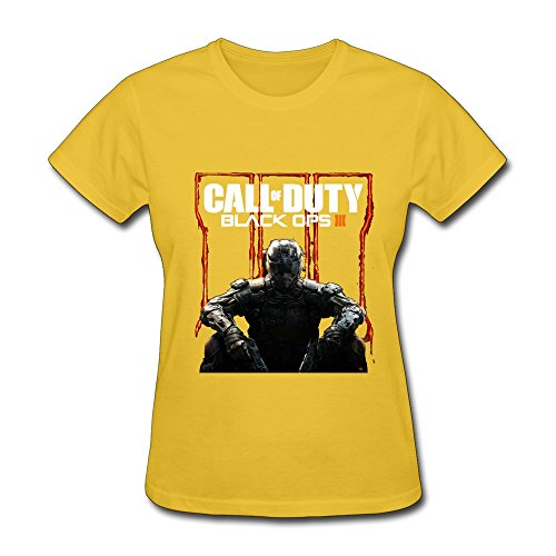 HUBA Women's Tshirt Call Of Duty Black Ops III 2 Yellow Size S