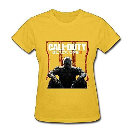 HUBA Women's Tees Call Of Duty Black Ops III 2 Yellow Size XL (Call Of Duty Black Ops 2 Live)