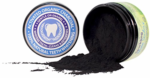 Activated Charcoal Powder for Natural Teeth Whitening, Cleaning and Detoxifying - Coconut Shell Activated Charcoal - Natural Teeth Whitener - For a Healthy (Cleaning Teeth)