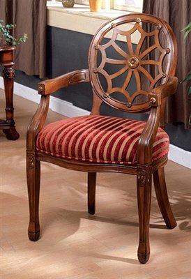 Edinburgh Accent Chair in Dark Oak Finish / Antique Oak
