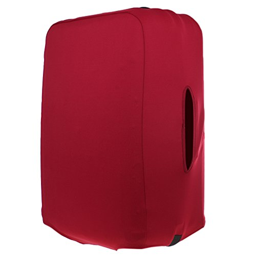 Dovewill S 18-21'' Spandex Luggage Protector Case Dust Proof Cover Washable - Wine Red 21' Luggage