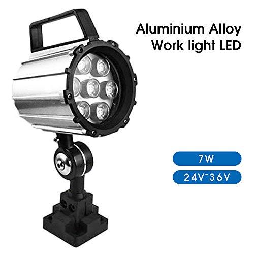 7W Short Arm LED Work Light 24V~36V Aluminum Alloy Lighting 280mm for Lathe CNC Milling Machine (7W 24V-36V)