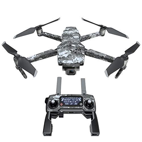 Digital Urban Camo Decal Kit for DJI Mavic 2/Zoom Drone - Includes 1 x Drone/Battery Skin + Controller Skin