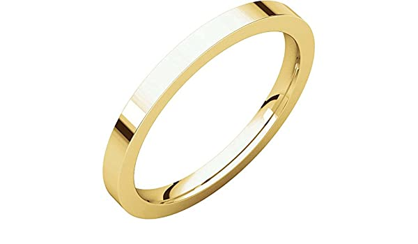 02.00 mm Light Comfort-Fit Wedding Band Ring in 14k Yellow Gold Size 10
