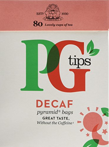 PG Tips Decaf Pyramid Tea Bags (Pack of 6, Total 480 Tea Bags)