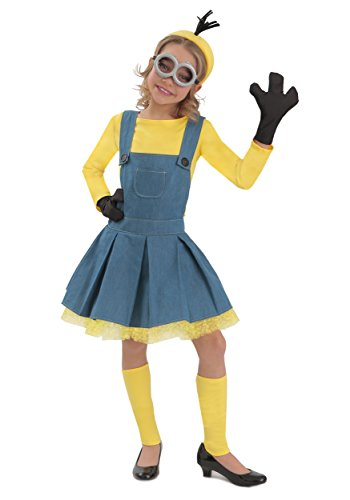 Women's Minions Jumper Costumes (Princess Paradise Minions Girl Jumper Costume, Blue/Yellow, X-Large)