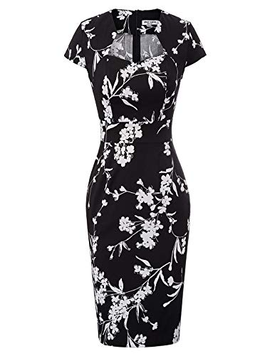 GRACE KARIN Women's 50s Vintage Pencil Dress Cap Sleeve Wiggle Dress from GRACE KARIN