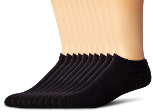 - Hanes Classics Men's Low Cut Socks 20-Pack_Black_10-13