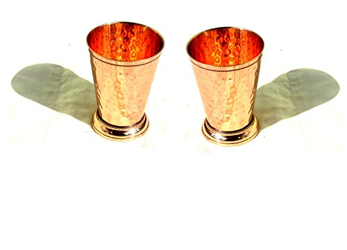 MAITHIL ART Hand Hammered Pure Copper Mint Julep Cup