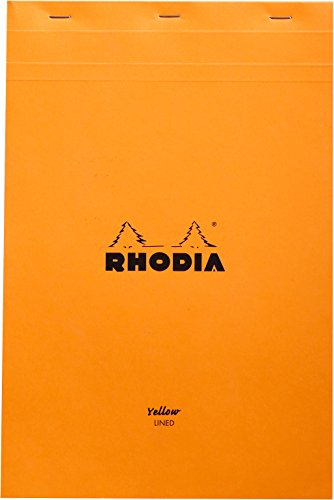 Rhodia Classic Staple Bound Lined Paper Pad in Yellow by Rhodia