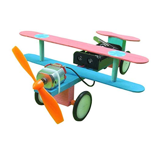 Dozenla Kids Children Electric Taxiing Science Experimental Toy DIY Science Model Toy Airplane Construction Kits by dozenla