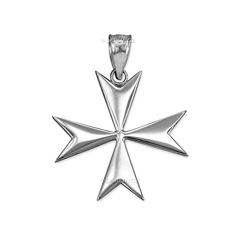 Polished Sterling Silver Maltese Cross Pendant (Maltese Cross Sterling Silver)