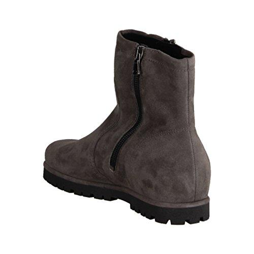 Melanie semler m 90463-030 bottines gris tendance-chaussures en cuir velours-chevro), de hauteur talon plat :