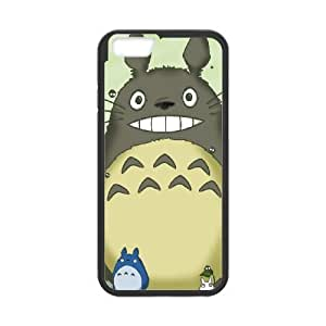 Back Skin Case Shell iPhone 6s Plus 5.5 Inch Cell Phone Case Black My Neighbor Totoro Ipmto Pattern Hard Case Cover