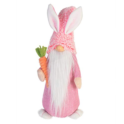 - GMOEGEFT Handmade Nordic Gnome Plush, Tall Easter Bunny, Standing Tomte Nisse for Holiday Decorations, Housewarming Gift (Slim Pink) - 20 Inches