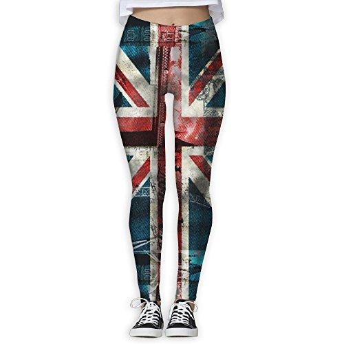 New GIFTSt Health Fitness Power Flex Yoga Pants For Women Workout Leggings High Waist Flare - Vintage England Flag hot sale