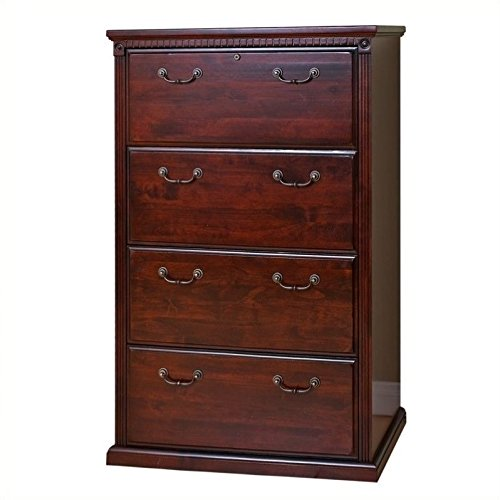 Martin Furniture Huntington Club Office 4 Drawer Lateral File Cabinet - Lateral Wood File