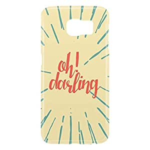Loud Universe Samsung Galaxy S6 3D Wrap Around Oh Darling Print Cover - Yellow