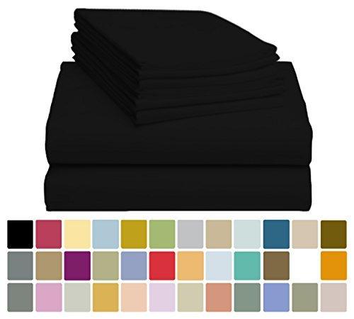 "6 PC LuxClub Sheet Set Bamboo Sheets Deep Pockets 18"" Eco Fr"