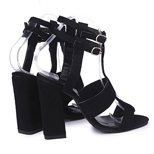 Heel Sandals Heeled Toe Party Corsion for Stilettos 11CM Sexy Dress B Business Ankle Strap Evening Sandal Open Wedding Shoes Women's High SwFgqY