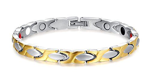 Two Tone Gold Jewelry Clasp Magnetic Energy Bracelet - 4