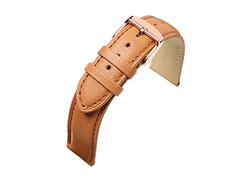 21mm Watch Band Real Leather Strap Bracelet Pin Normal Buckle Silver/Gold/Rose Gold Clasp Replacement CHIMAERA