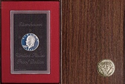- 1971 S Eisenhower IKE 40% Silver In original packaging from mint Dollar Proof Condition