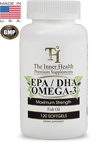 Marine Lipid Concentrate - FISH OIL OMEGA 3 SUPPLEMENT - EPA/DHA FATTY ACIDS Promoting Healthy Heart, Joints, Eyes and Skin - 1000 Mg Marine Lipid Concentrate - Manufactured in the USA - 120 Softgels By The Inner Health
