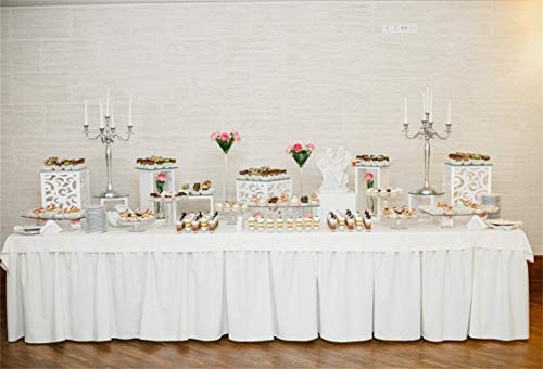 CSFOTO 10x7ft Background Wedding Table Cupcake Food Photography Backdrop Ballroom Wedding Party Decor Marriage Engagement Candlestick Banquet Room Celebrate Photo Studio Props Vinyl Wallpaper -