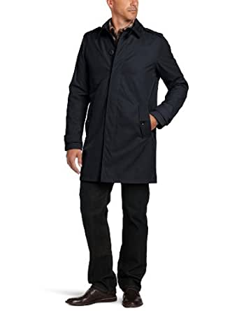 Tommy Hilfiger Men's Light Weight Trench Coat, Navy, Small
