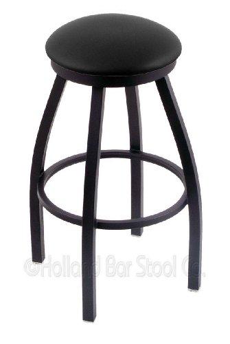 Holland Bar Stool Company 802 Misha 25-Inch Counter Stool with Black Wrinkle Finish, Black Vinyl Seat and 360 Swivel from Holland Bar Stool Company