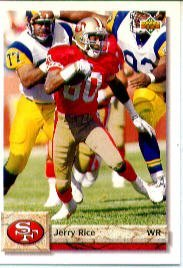 (1992 Upper Deck Jerry Rice Football Card IN PROTECTIVE SCREWDOWN CASE #616 Jerry Rice)