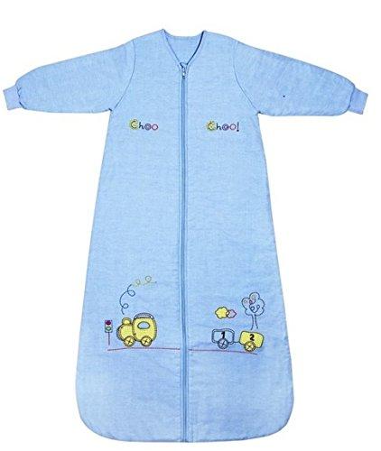 Schlummersack Baby Winterschlafsack mit langen Ärmeln Zug in 3.5 Tog 90cm/6-18 Monate