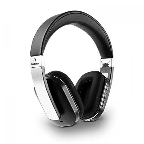 auna Elegance ANC • Auriculares inalámbricos Bluetooth 4.0 • Estéreo • Plegables • Función manos libres • NFC • aptX • Batería de iones litio • Tiempo de ...