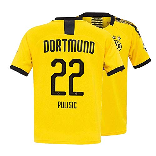 699460080ba Ansoy Mens Pulisic Jersey 2019/20 Borussia Dortmund 22 Soccer Home  Christian Yellow (Medium)