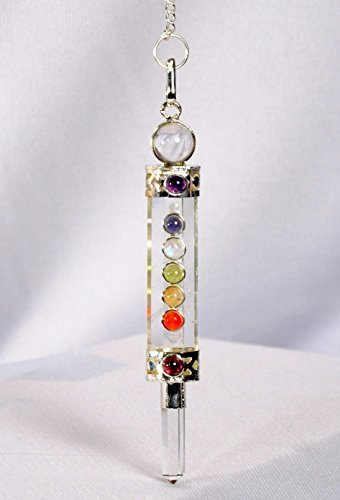 Crystal Quartz Chakra Wand Pendulum Genuine Healing Reiki Answers Wish Fulfilled Dowsing Hypnosis