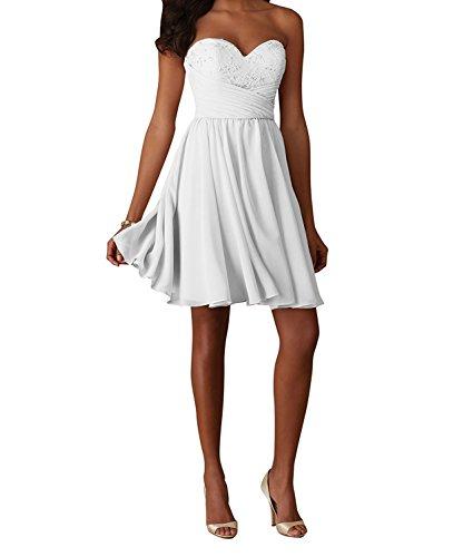 Charmant Cocktailkleider Schwarz Traegerlos Abendkleider Weiß Partykleider Tanzenkleider Damen Kurzes Mini APfArq