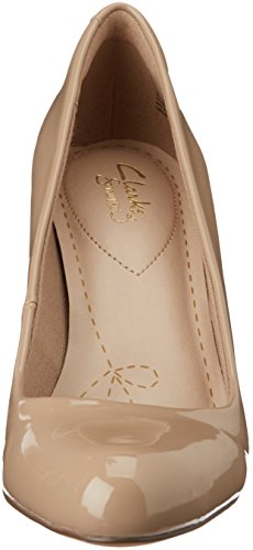 Scarpe Beige Patent Sand Tacco con Carlita Cove Clarks Donna PqEHw