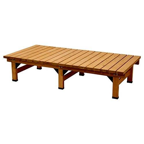 ウッドデッキ風 縁台 180×90cm (ライトブラウン) / 木製 180 材 ベンチ B07FZVGH98 ライトブラウン