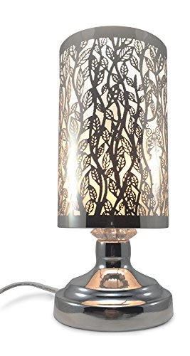Climbing Vine Laser Cut Stainless Steel Electric Touch-controlled Fragrance Lamp with Free Replacement Halogen Bulb (Touch Aroma Lamp compare prices)