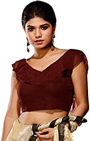 Elina fashion Women's Party Wear Indian Style Readymade Bollywood Padded Crop Top Blouses Choli for Sa
