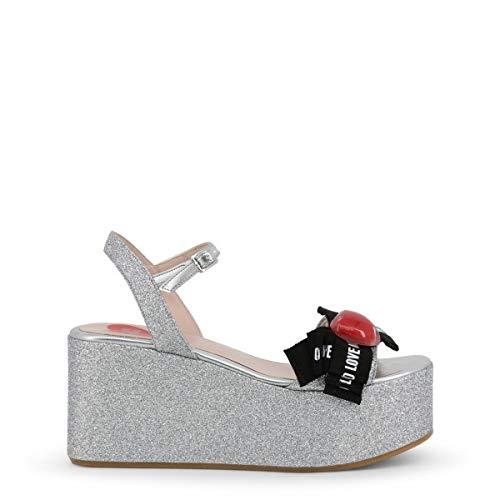 Love Moschino Women Grey Wedges
