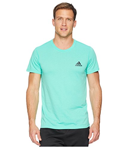 adidas Men's Ultimate Crew Short Sleeve Tee Hi-Res Green Large