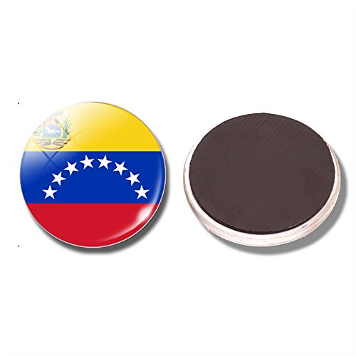 (FunnyToday365 Bolivarian Republic Of Venezuela Flag 30 Mm Fridge Glass Cabochon Refrigerator Stickers Note Holder Home Decor)