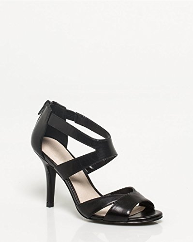 Strappy CHÂTEAU Black Leather Women's Sandal LE 4xHfPqSwx