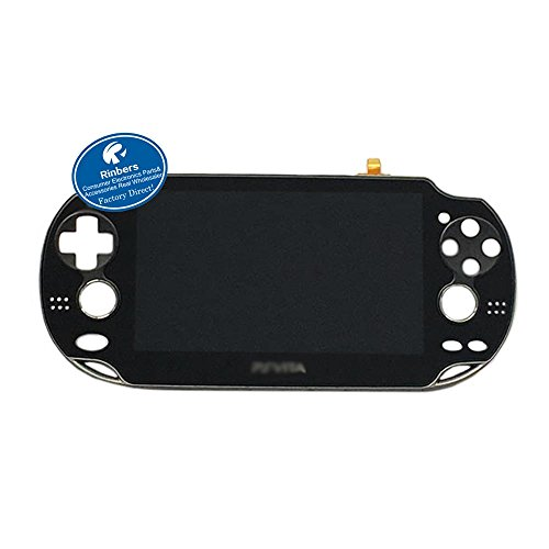 Rinbers® BLACK LCD Screen Display Touch Panel Glass Digitizer Assembly with Frame Combo Replacement for Playstation PS Vita PSV PCH-1001 PCH-1101 ()