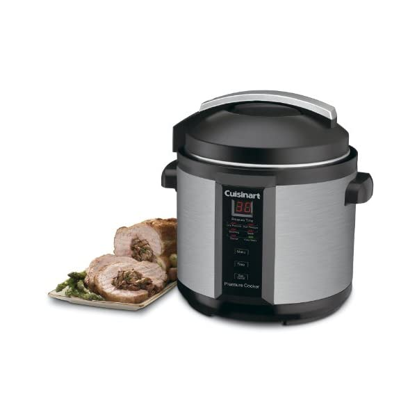 Cuisinart CPC-600AMZ 1000-Watt 6-Quart Electric Pressure Cooker, Brushed Stainless and Matte Black 2