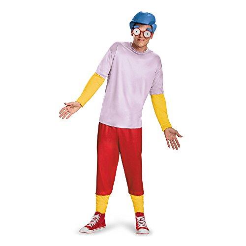 Disguise Men's Milhouse Deluxe Teen Costume, Multi, Medium