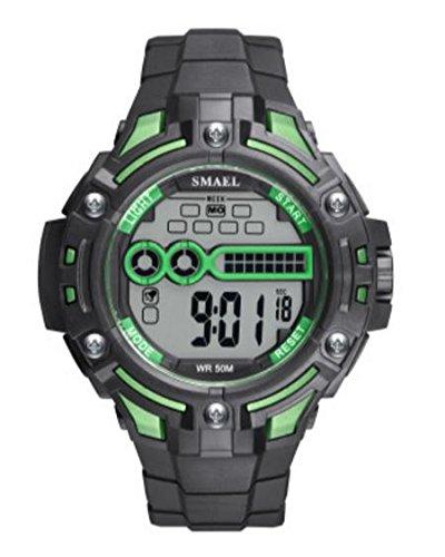 ZXZ-GO Relojes Deportivos Reloj Resistente al Agua PU Número ...