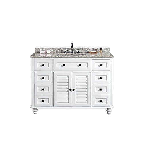 Ove Decors Heather 48 Vanity with Tiger Granite Countertop and 20